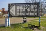 Wegweiser zum Badeschiff, Festsaal Kreuzberg, Glashaus, Escobar, Berlin, 17.03.2020