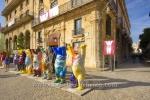 """""""United Buddy Bears"""" (gestiftet von der Deutschen Bundesregierung und VW, Jeder Baer steht fuer ein Land, mit dem Kuba diplomatische Beziehungen unterhaellt), Plaza de San Francisco de Asis, La habana vieja (Altstadt), Havanna, Cuba, 20.01.2015 [(c) Christian Behring, www.christian-behring.com]"""