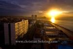 "Sonnenuntergang, Blick aus dem Hotel ""Rivera"" auf den Malecon Richtung Westen, Havanna, Cuba, 20.01.2015 [(c) Christian Behring, www.christian-behring.com]"
