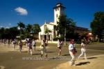 """""""Damas de Blanco"""", die Damen in Weiss (spanisch Movimiento Las Damas de Blanco """"Laura Pollan""""), die bekannteste kubanische Menschenrechtsorganisation, demonstrieren fuer die Freilassung politischer Gefangener, Ave 5ta, Miramar, Havanna, Cuba, 01.02.2015 [(c) Christian Behring, www.christian-behring.com]"""