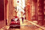 Vauxhall-Oldtimer in einer Nebenstasse des Obispo, La habana vieja, Havanna, Cuba, 31.01.2015 [(c) Christian Behring, www.christian-behring.com]
