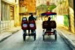 Fahrradrikschas in der Strasse BRASIL (Teniente Rey), in der Altstadt, La habana vieja, Havanna, Cuba, 31.01.2015 [(c) Christian Behring, www.christian-behring.com]