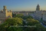Blick von der Dachterrasse des Hotel Parque Central zum Capitol und Museo Nacional de Bellas Artes, La habana vieja, Havanna, Cuba, 31.01.2015 [(c) Christian Behring, www.christian-behring.com]