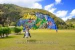 Mural de la Prehistoria (Gemaelde von Leovigildo Gonzales Morillo), Valle de Vinales (das Tal von Vinales), Cuba, 21.01.2015 [(c) Christian Behring, www.christian-behring.com]