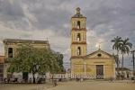 Iglesia de Nuestra Senora del Buen Viaje an des Suedseite des Parque Marti, Remedios, Cuba, 24.01.2015 [(c) Christian Behring, www.christian-behring.com]