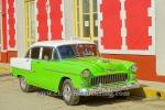 "Privat-Taxi, ""Chevrolet""-US-Oldtimer in der Altstadt, Trinidad, Cuba, 24.01.2015 [(c) Christian Behring, www.christian-behring.com]"