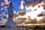 """Cristo de la habana"" ( Statue des cubanischen Kuenstlers Jilma Madera), Casablanca, Havanna, Cuba, 27.01.2015 [(c) Christian Behring, www.christian-behring.com]"