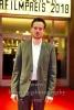 """""""DEUTSCHER HOERFILMPREIS 2018"""", Florian Bartholomaei, Roter Teppich zur Preisverleihung vor dem Kino International, Berlin, 20.03.2018"""