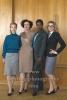 """""""DEUTSCHLAND 86"""", Sonja Gerhardt, Maria Schrader, Florence Kasumba, Anke Engelke, Photo Call am Set im Stasimuseum Berlin in der Zentrale des MfS, Berlin, 04.12.2017,"""