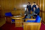 Uwe Kockisch, Ruth Reinecke, Florian Lukas, Joerg Hartmann, Anna Loos,  WEISSENSEE, Stasi-Museum in Berlin, 04.11.2014, Photo Call am Set (Photo: Christian Behring)