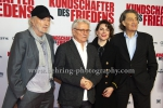 """Kundschafter des Friedens"", Michael Gwisdek (Hauptdarsteller), Henry Huebchen (Hauptdarsteller), Antje Traue (Hauptdarstellerin), Winfried Glatzeder (Hauptdarsteller), Premiere im Kino INTERNATIONAL am 17.01.2017 in Berlin"
