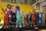 "Die Darsteller des Musicals, ""THE BAND - Das Musical"", Photo Call, Take That - Gary Barlow, Mark Owen und Howard Donald - besuchen die Proben ihres Musicals in Berlin, Theater des Westens, Berlin, 01.04.2019"