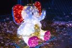 """Elefant, """"Weihnachten im Tierpark"""" (21.1119 - 05.01.2020), Lichtfest im Tierpark, Berlin, 01.12.2019"""