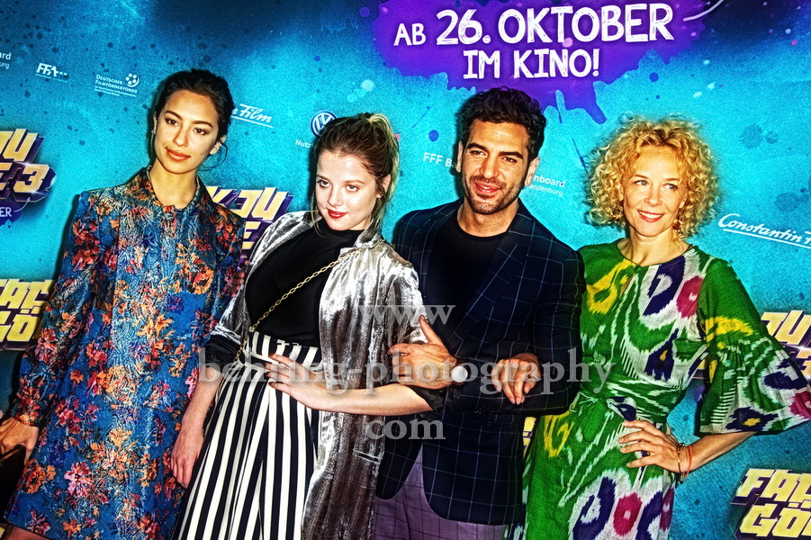 FACK JU GÖHTE 3, Kinotour mit Elyas M'Barek, Jella Haase, Katja Riemann, Gizem Emre, CineStar Sony Center, Berlin, 28.10.2017