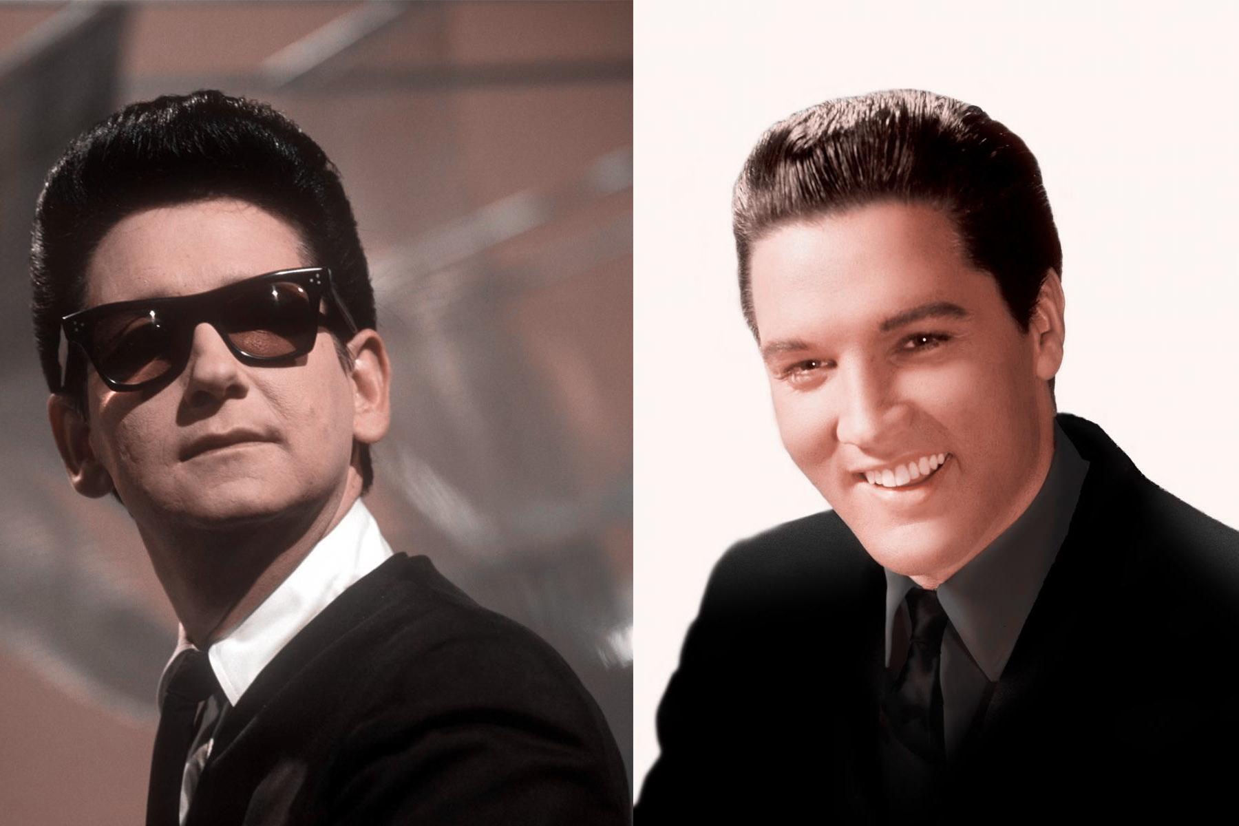 Elvis und Roy Orbison, Portraits, Collage 2017