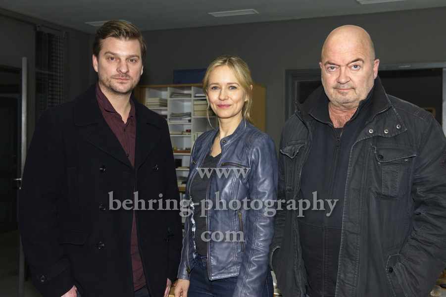 Ein starkes Team - Photo call und Interviews mit Stefanie Stappenbeck, Florian Martens, Matthi Faust, Motiv: Polizeipraesidium, Berlin, 13.12.2017,