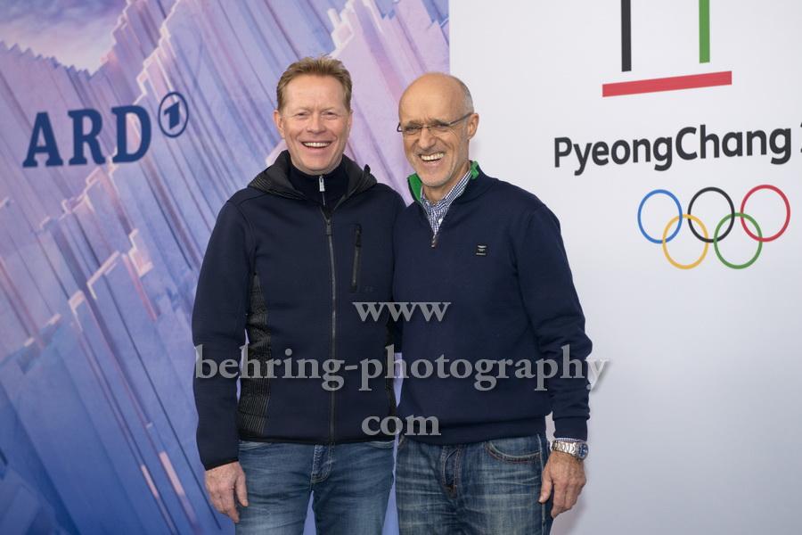 OLYMPIA 2018, Photo call zum Olympia-Programm von ARD und ZDF, mit Skisprung-Experten Dieter Thoma, Toni Innauer, Radisson Blu Hotel, Berlin, 12.12.2017,