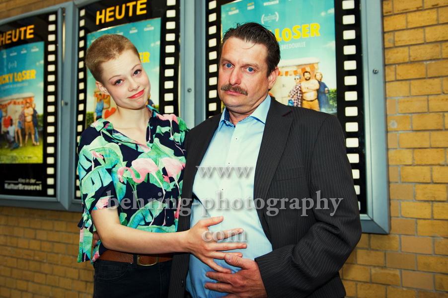 LUCKY LOSER, Emma Bading, Peter Trabner, Photo Call zur Berlin-Premiere, Kino in der Kulturbrauerei, Berlin, 10.08.2017 (Photo: Christian Behring)