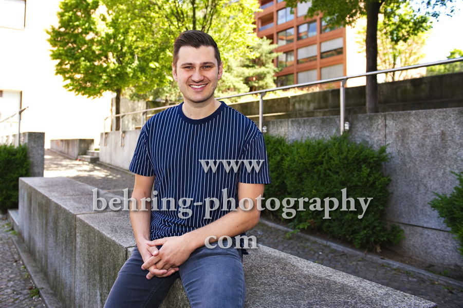 Sebastian Raetzel, Photocall und Interview in der Naehe vom Potsdamer Platz, Berlin, am 18.06.2019