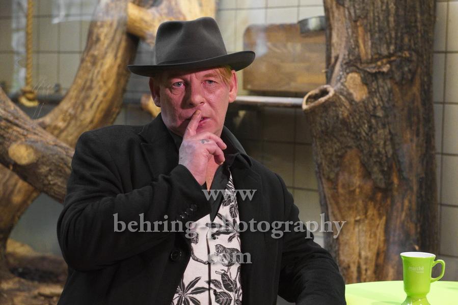 Ben Becker - Affe, Pressekonferenz, Affenhaus im Tierpark, Berlin, 26.11.2019