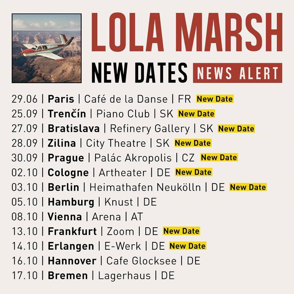 lola marsh, neue termine