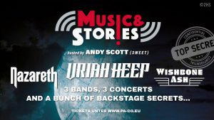 Music And Stories mit Nazareth, Uriah Heep, Wishbone Ash @ Tempodrom