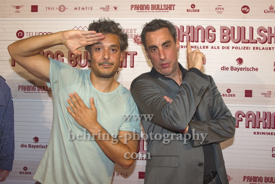 "Regisseur Alexander Schubert, Erkan Acar, ""FAKING BULLSHIT"", Photo Call am Roter Teppich vor dem Cinemaxx am Potsdamer Platz, Berlin, 09.09.2020,"