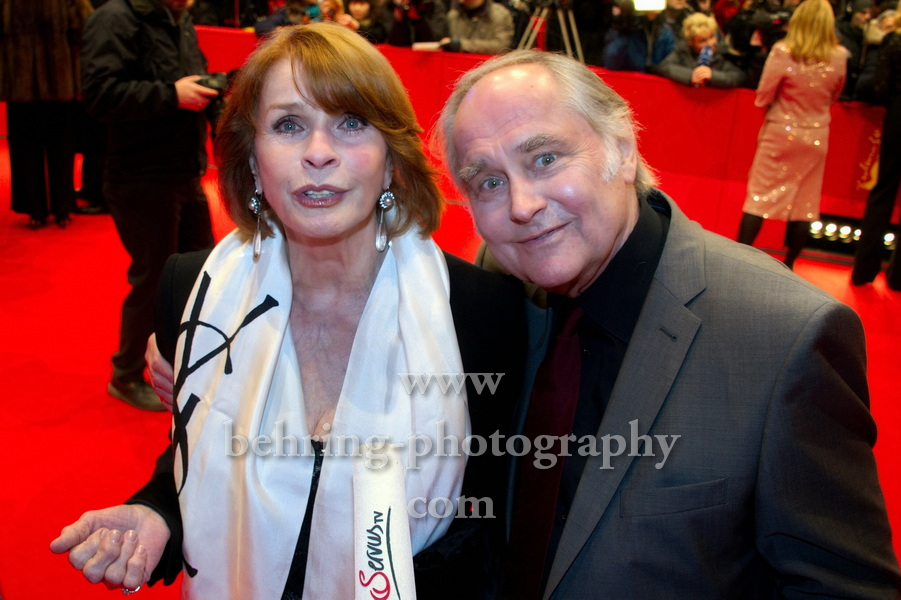 Senta Berger, Michael Verhoeven, arrives at the premiere of the film THE GRANDMASTER (Yi Dai Zong Shi) on February 7, 2013 in Berlin, Germany, opening ceremony, 63rd Berlin International Film Festival , 63rd Berlinale, Red Carpet, on February 07, 2013 in Berlin,